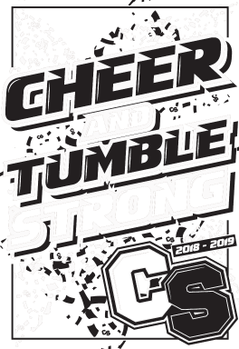 Cheer Strong staff stencil